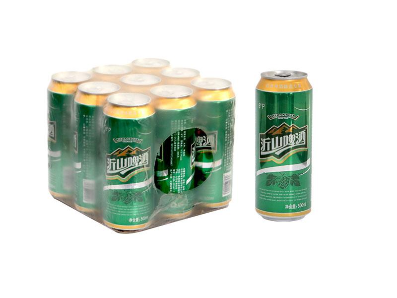 张家港500ml 沂山啤酒绿罐 塑包