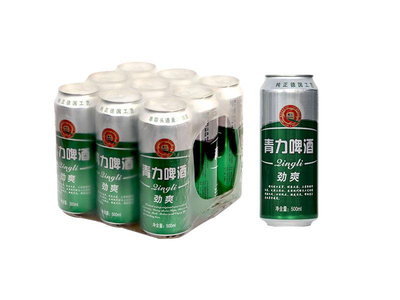 吴中500ml 青力啤酒绿罐 塑包