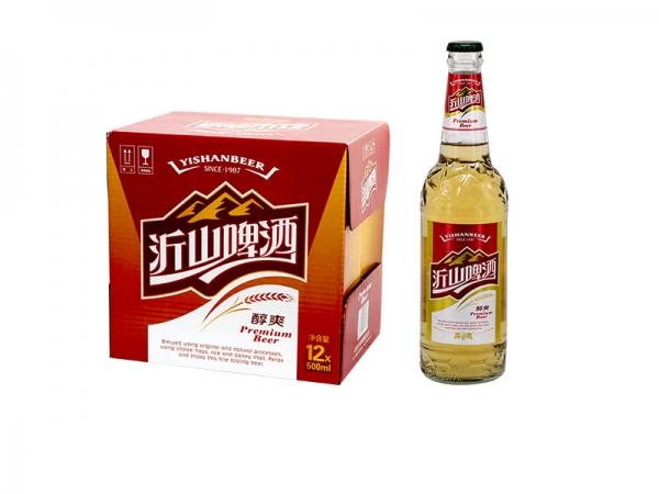 昆山啤酒招商加盟-500ml沂山醇爽啤酒
