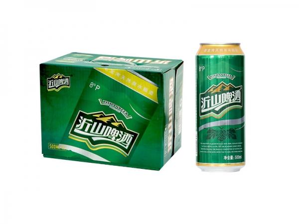江苏500ml 沂山啤酒绿罐箱装