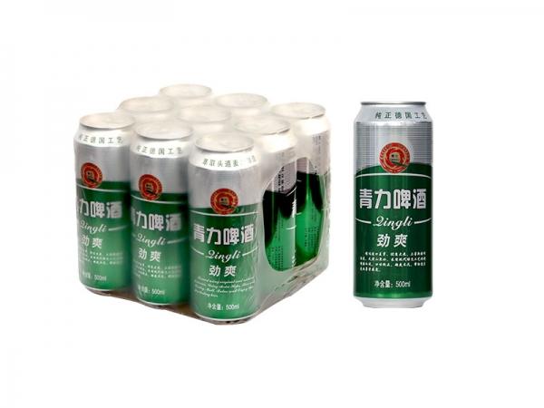 吴江500ml 青力啤酒绿罐 塑包