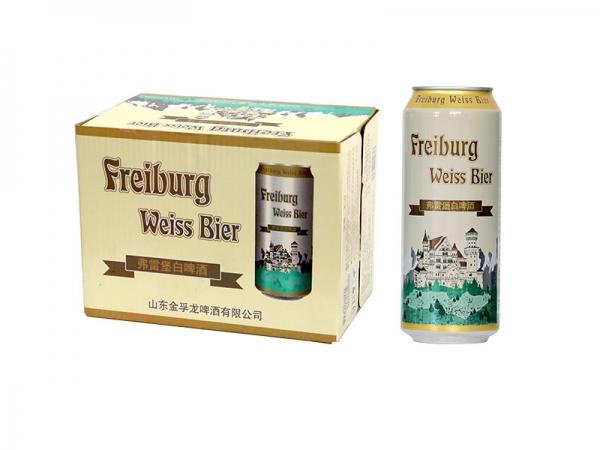 昆山精酿啤酒加盟-500ml弗雷堡白啤酒